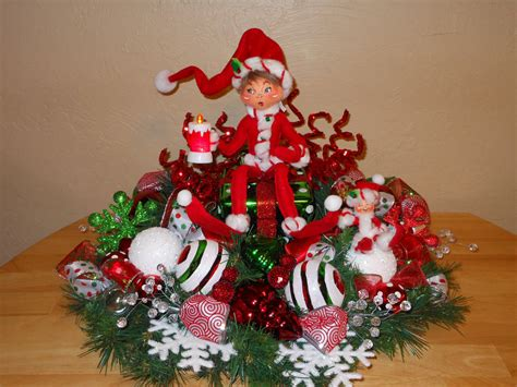 sale christmas centerpiece table decoration annalee elf gift