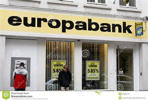 europa bank europabank editorial image image 21895170