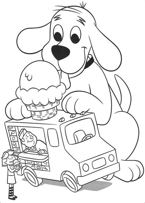 animations a 2 z coloring pages of clifford the big red dog