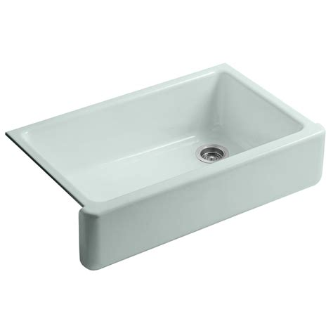 Enameled Cast Iron Kitchen Sinks Shop Kohler Whitehaven Single Basin Undermount Enameled Cast Iron Kitchen Sink At Lowes