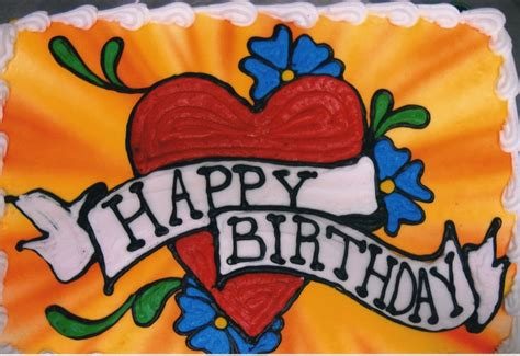 happy birthday tattoo artist style birthday cake happy birthday