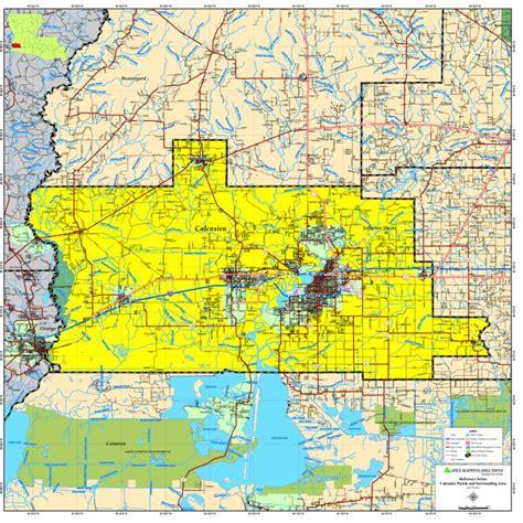 louisiana map gis tensas parish map