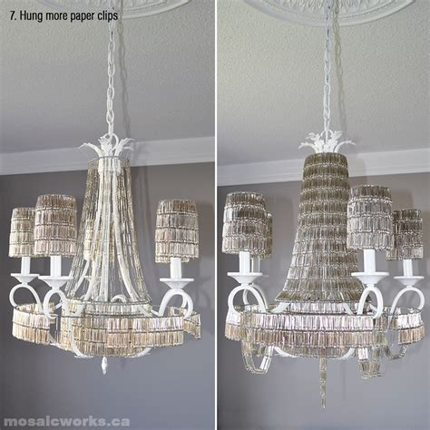Paperclip Chandelier Mosaicworks Ca The Paper Clip Chandelier