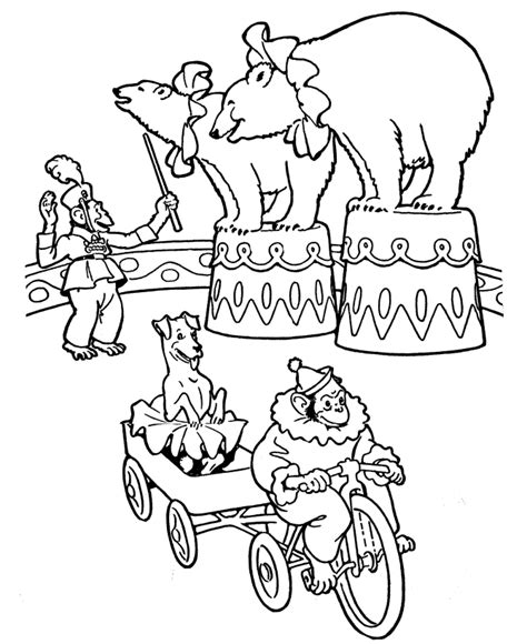 Circus Coloring Page Az Coloring Pages Circus Animal Coloring Pages