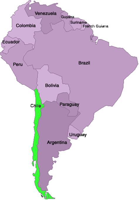 south america map chile south america chile map