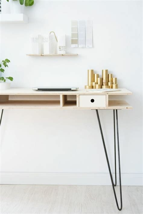 Diy Plywood Desk by Diy Projekt Schreibtisch Selber Bauen 25 Inspirierende