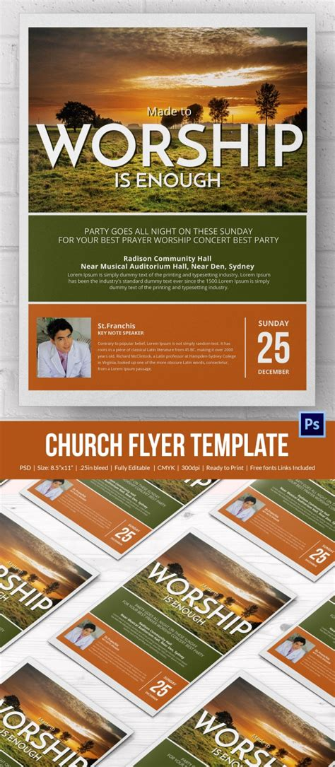 Church Flyers 46 Free Psd Ai Vector Eps Format Download Free Premium Templates Template For Church Flyer