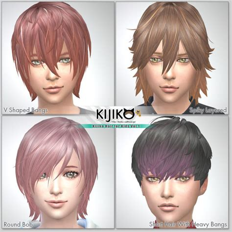 kids hair sims 4 hairstyle gallery sims 4 hairs kijiko sims kijiko hair for kids vol 1