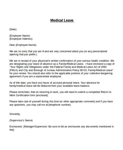 Letter Of Intent Sle For Leave Of Absence Leave Of Absence Letter From Employer To Employee Letter