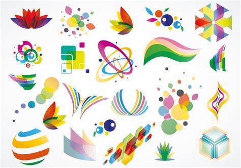 design free graphics colorful logo design elements vector set free vector