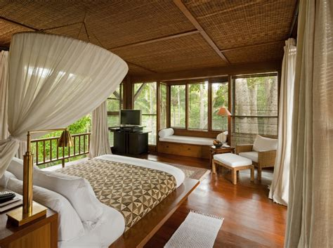 balinese bedroom design como shambhala estate bali bamboo matting and wood