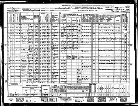 Us Census Search 1940 U S Census Data Images