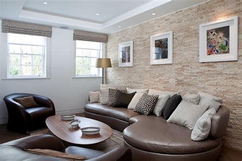 Stone Wall Living Room by Muretto Style The Ultimate In Stone Chic