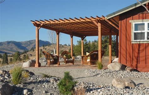 patio arbor plans pergolas attached to house how to build search