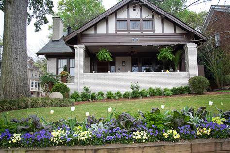 Raised Bungalow House Plans piedmont park front yard cultivators landscape