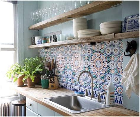 blue patterned kitchen tiles moroccan patterned blue tiles kitchen backsplash combined