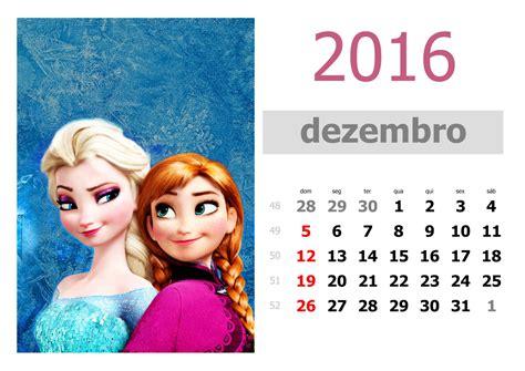Calendario P Imprimir 2016 Calend 225 Frozen 2016 Para Imprimir