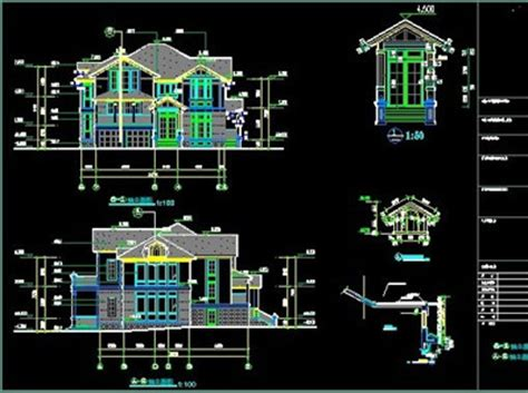 home design autocad free download luxury villa construction cad drawings free download