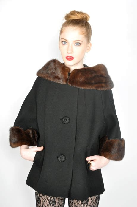vintage swing mode vintage mink swing coat vintage fashion style