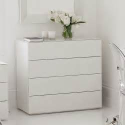 high gloss white glass carlton 4 drawer chest of drawers