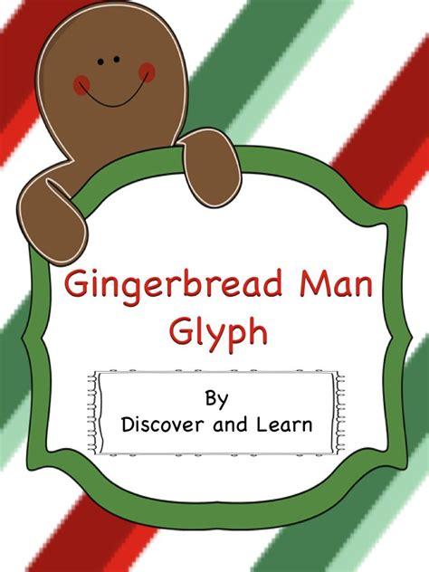 gingerbread man glyph printable gingerbread man glyph pinterest activities