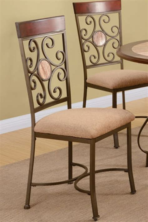 Brown Fabric Dining Chairs Poundex F1091 Brown Fabric Dining Chair A Sofa Furniture Outlet Los Angeles Ca