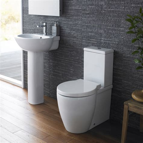 hudson reed langdon 4 bathroom suite cc toilet 1th basin with pedestal at