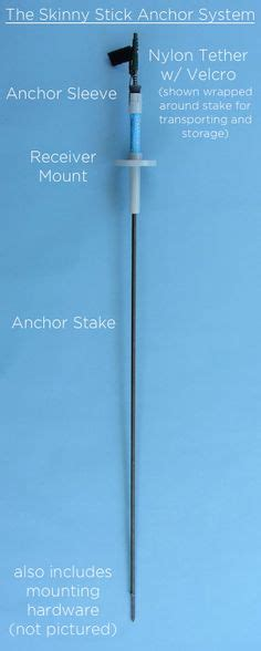 stick boats kayak the skinny stick anchor system with track mount home