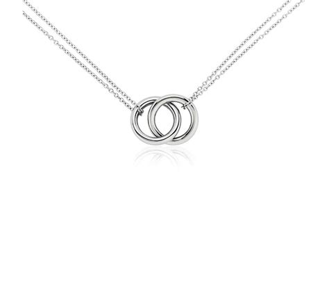 infinity rings necklace in platinum blue nile