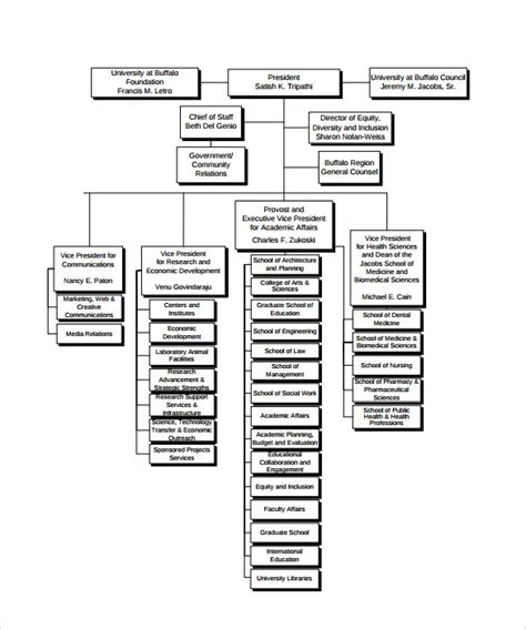 company organization chart template sle business organizational chart 8 documents in pdf