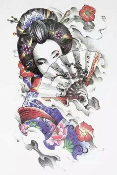 Tyas Kimono japanese geisha worrior on samurai geishas and geisha tattoos