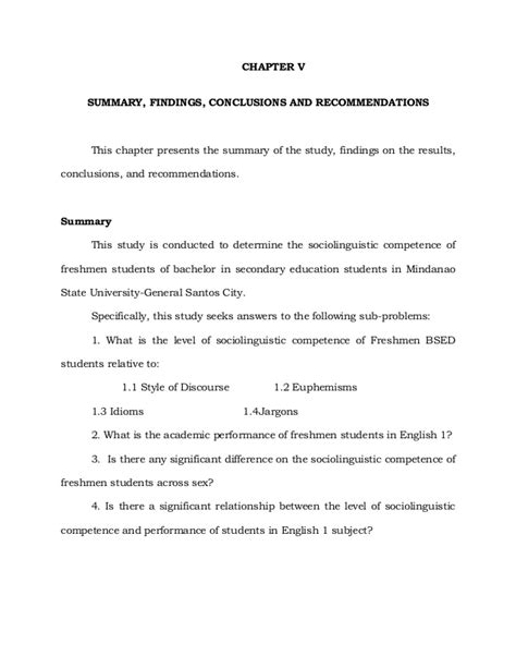 how to write thesis conclusion and recommendation how