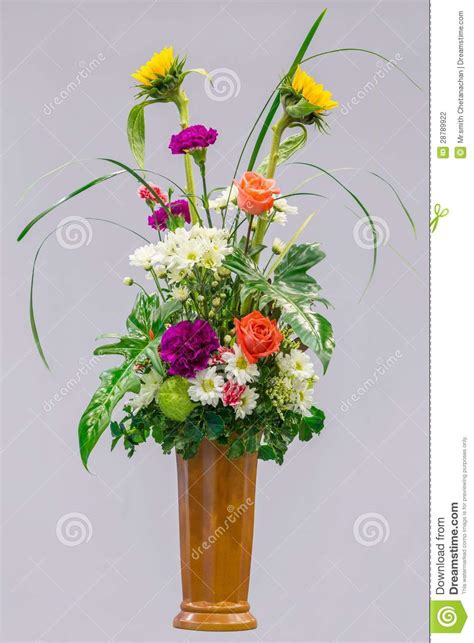flower bouquet in a vase stock photography image 28789922