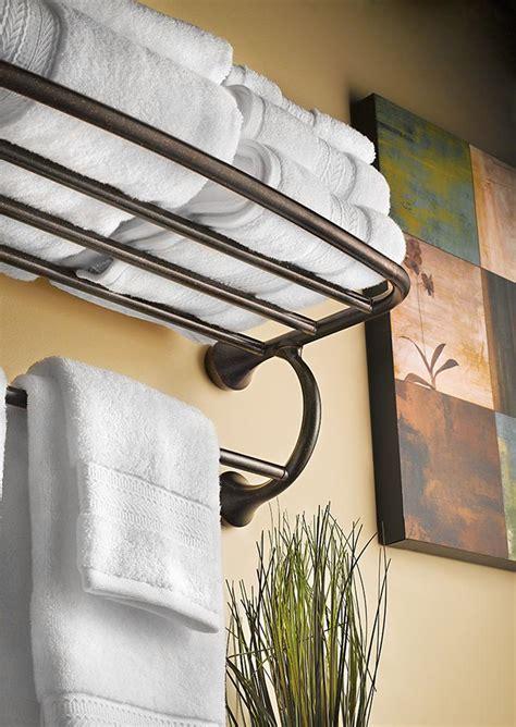 Bronze Towel Shelf by Moen Yb2894orb Bathroom Hotel Towel Shelf Rubbed