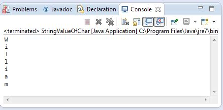 pattern java char java string valueof char c method exle