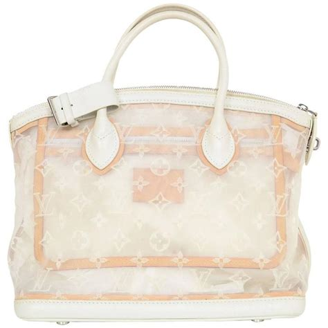 louis vuitton white monogram transparence transparent mesh