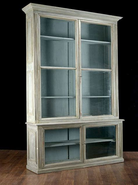 Pair Of Antique Glass Door Bookcases At 1stdibs Vintage Bookcase With Glass Doors
