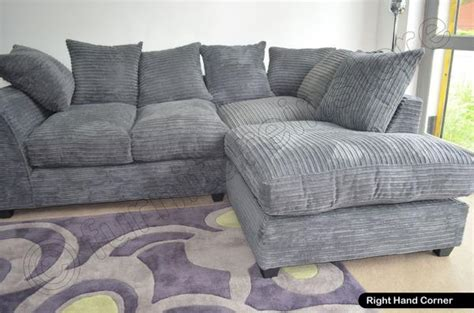 cord fabric sofa grey dylan jumbo cord fabric sofas settee left right