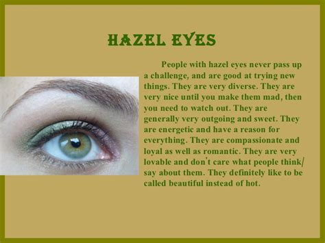 facts about green this perfectly describes me what your eye color says