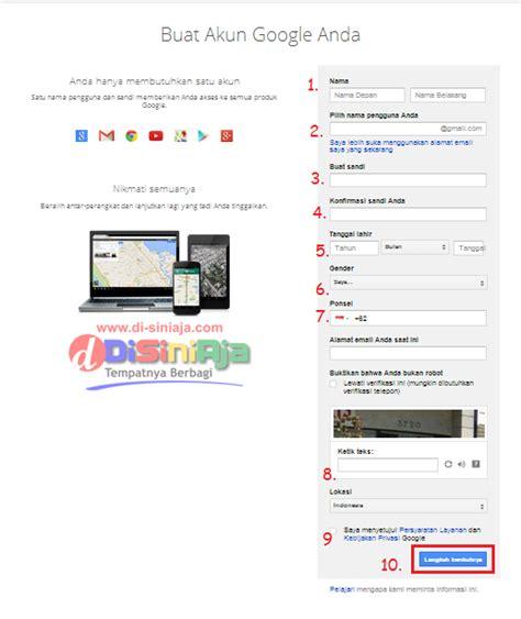 cara membuat akun gmail dari google dari ponsel rifanytop cara mudah membuat email dari google gmail lengkap