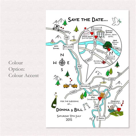 printable maps for wedding invitations free print your own colour wedding or party illustrated map by