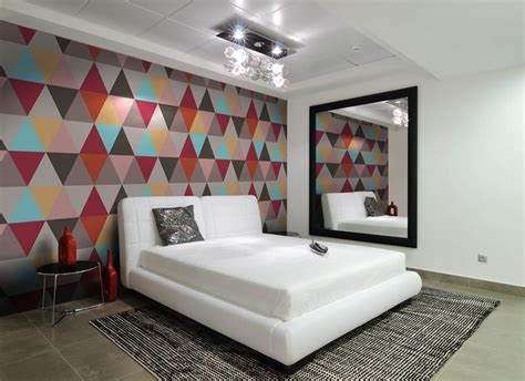 15 captivating bedrooms with geometric wallpaper ideas wallpapers for mens room many hd wallpaper
