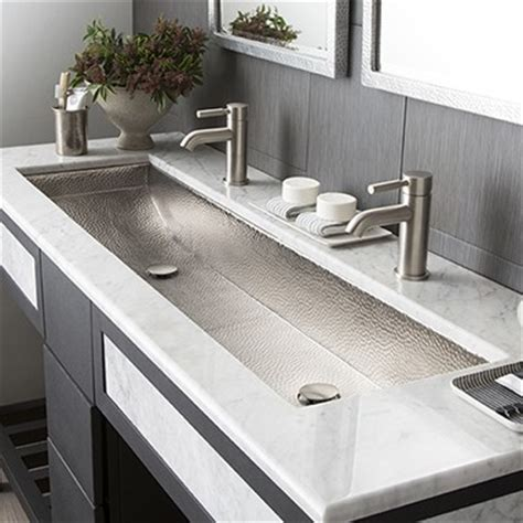 trough style bathroom sink modern rectangular trough bathroom sinks trails