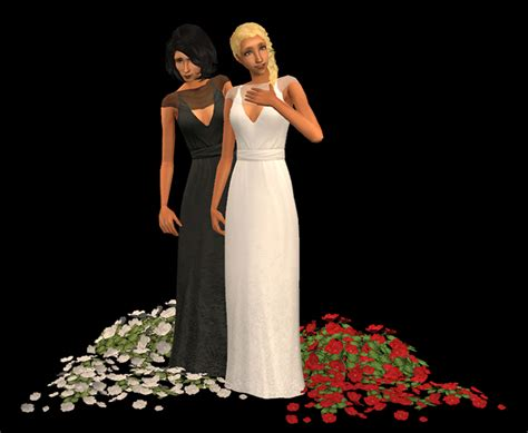 ball gown sims 4 mod the sims black white recolours of rented space s