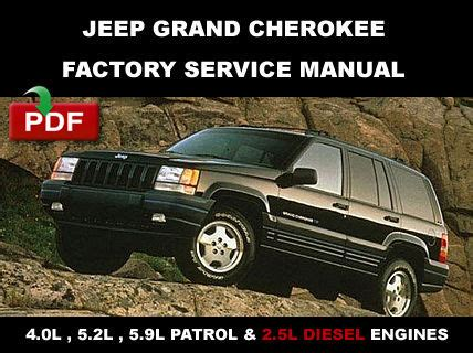 automotive repair manual 1998 jeep grand cherokee on board diagnostic system 1993 1998 jeep grand cherokee factory oem service repair workshop fsm manual service