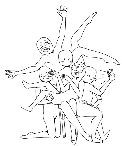 Draw The Squad Template By Spudtasticart On Deviantart Drawing Templates