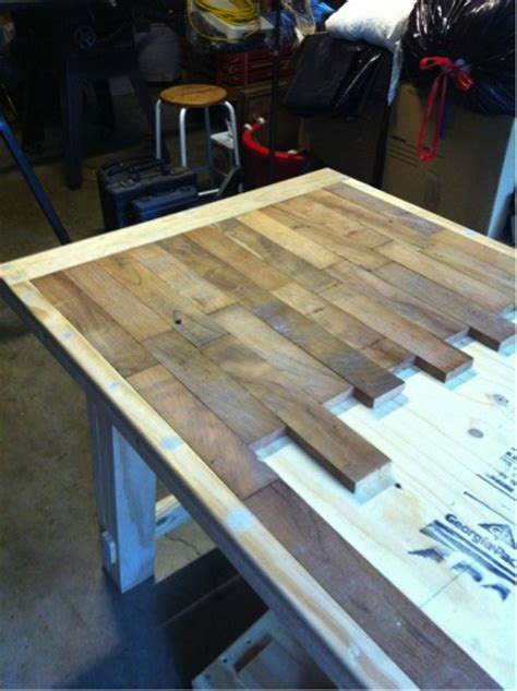 wood plank kitchen table