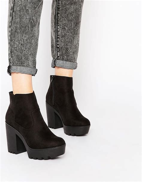 new look new look chunky ankle boot at asos