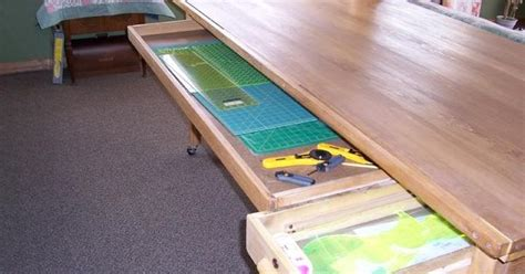 cutting table with drawers for mats rulers etc sewing