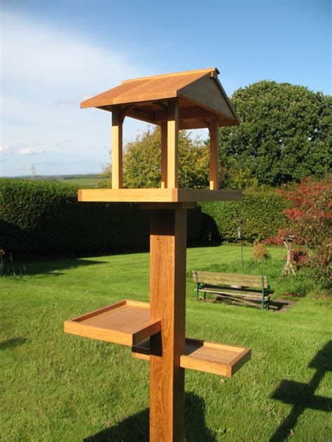 Handmade Bird Tables - solid oak handmade bespoke bird table tekton carpentry